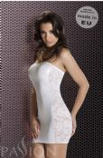 'Passion Lingerie' Vena White Figure Hugging Wet Look Mini Dress UK Size 14-16